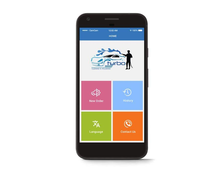 Mobile App Main Page Design
