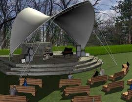 #11 for Rendering of a Saddle Span Tent in a Park by mmmanea