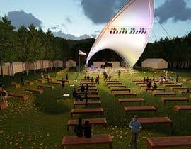 #7 for Rendering of a Saddle Span Tent in a Park by smarkies
