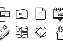 #5 for Design icons for print material categories by rivasfjl