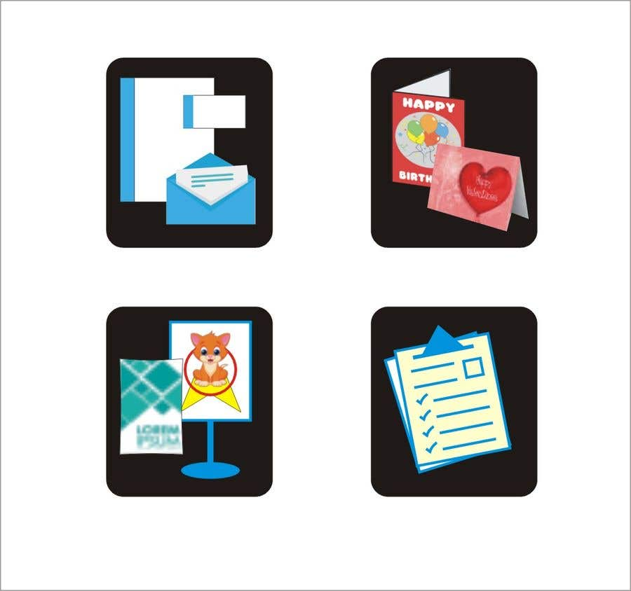 Contest Entry #6 for Design icons for print material categories