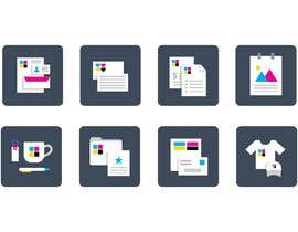 #13 for Design icons for print material categories by louisphilippebf
