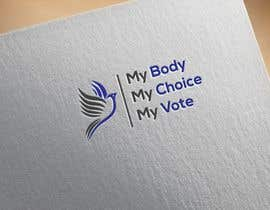 #94 cho I need a logo with the following slogan  My Body My Choice My Vote  It needs to be in shades of red and purple and feature a woman's hand/woman voting at a ballot box. Want the image to have feminine appeal. bởi torkyit