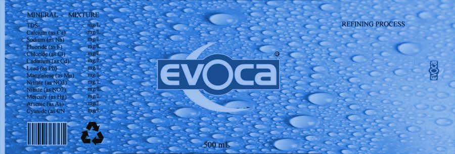 Penyertaan Peraduan #                                        3                                      untuk                                         Creating an Evoca 500ml Water PET bottle design