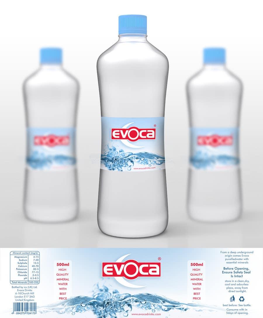 Creating an evoca 500ml water pet bottle design freelancer for Decor 500ml bottle