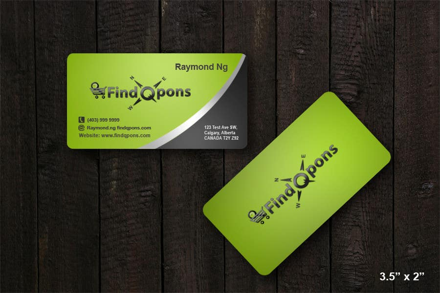Contest Entry #                                        27                                      for                                         Business Card Design for FindQpons.com