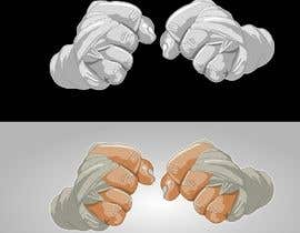#21 for Illustrate Fists - Boxing Fist with Hand Wraps af atanasovskigorgi