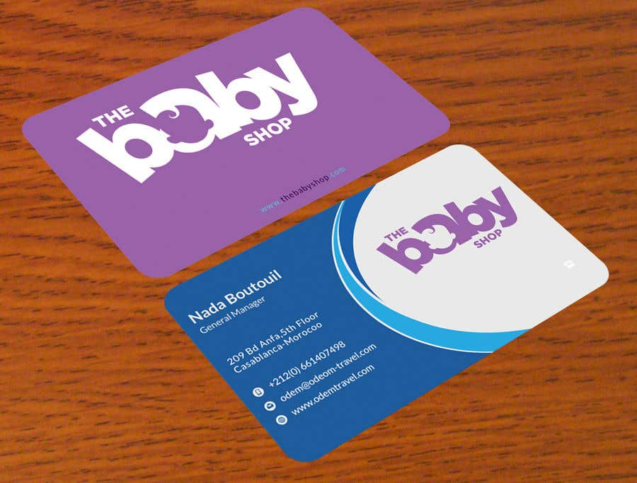 Entry #157 by alamgirsha3411 for baby shop business cards | Freelancer