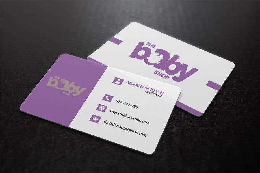 contest entry 117 for baby shop business cards