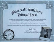Graphic Design Contest Entry #3 for Website Certificate Design for Macecraft Software