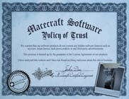 Graphic Design Contest Entry #1 for Website Certificate Design for Macecraft Software