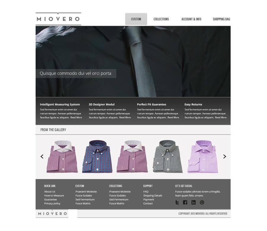 Contest Entry #37 for HOMEPAGE DESIGN FOR MIOVERO - and future work, read descriptions.