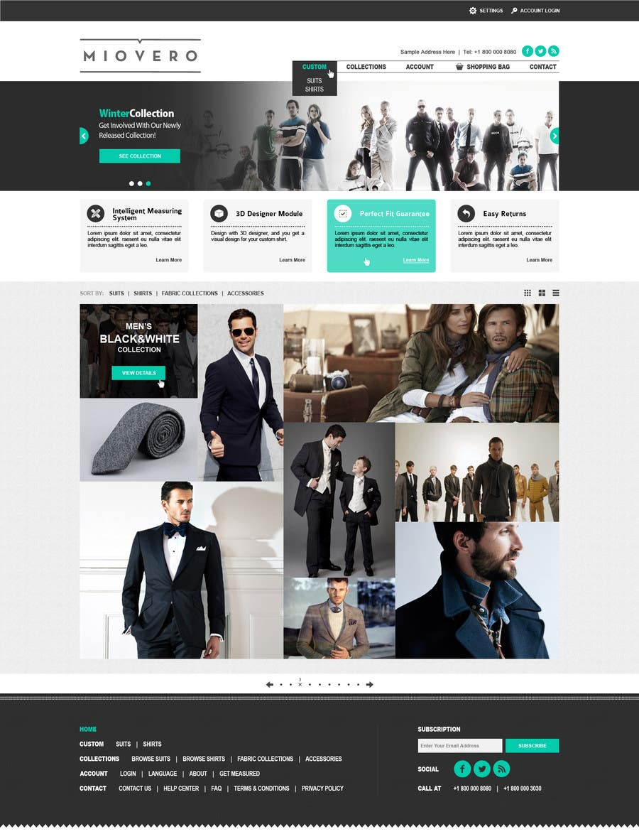 #54 for HOMEPAGE DESIGN FOR MIOVERO - and future work, read descriptions. by halfadrenalin