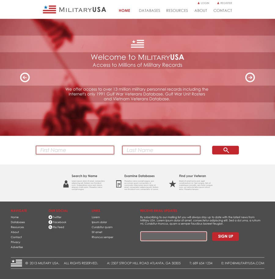 #31 for Website Design for MilitaryUSA.com by WebofPixels