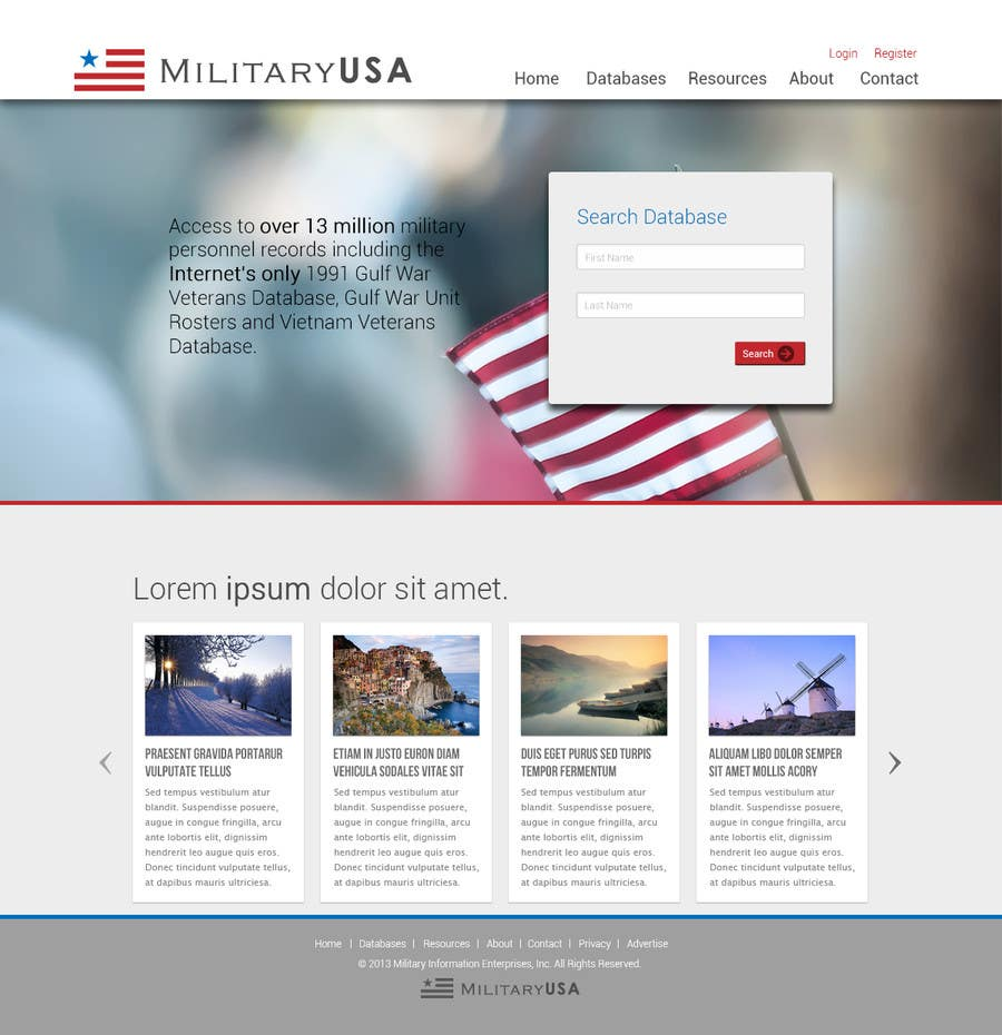 #38 for Website Design for MilitaryUSA.com by nelsonc99