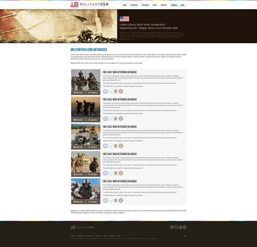 #42 for Website Design for MilitaryUSA.com by creator9