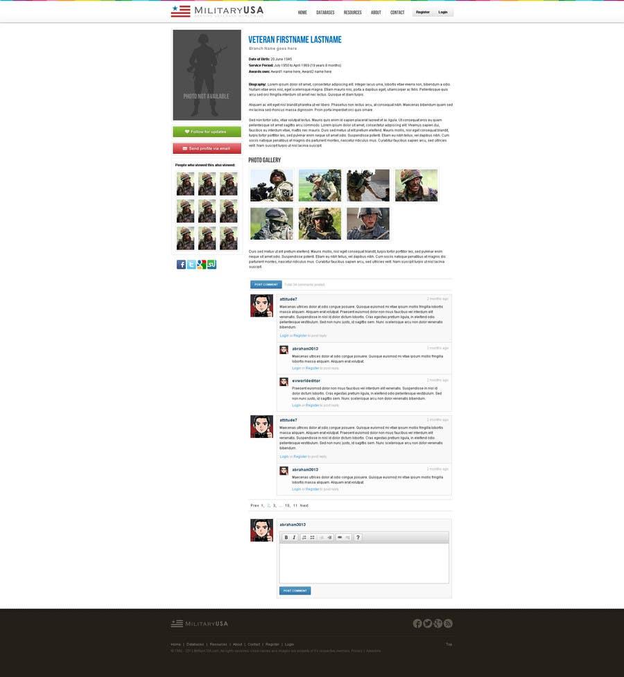 #46 for Website Design for MilitaryUSA.com by creator9