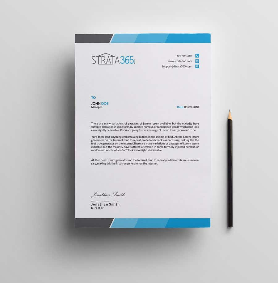 entry 10 by niloy55 for design some stationery letterhead notice