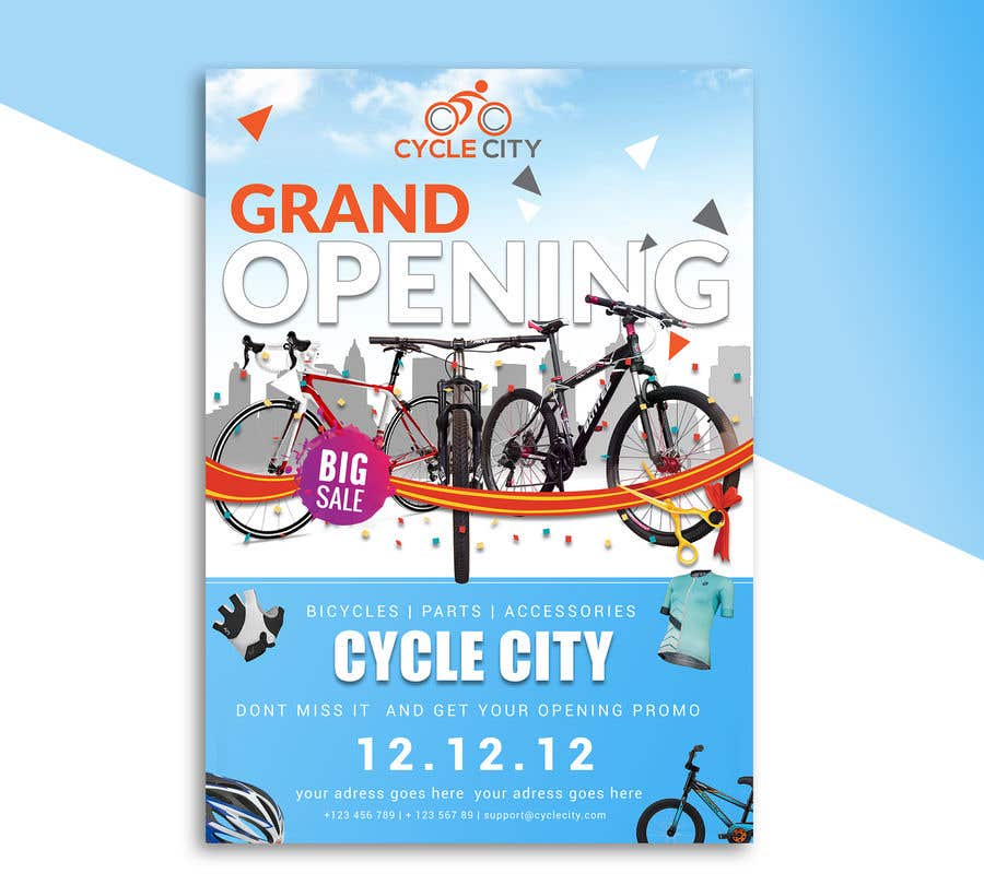 Entry 17 by adidoank123 for bike shop grand opening flyer freelancer contest entry 17 for bike shop grand opening flyer m4hsunfo