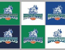 #45 for We like the Timberwolves & Dallas Wings logos & are looking for a graphical logo. Must include a bronco & a basketball (or half ball) in the logo. Logo needs to be high res & able to be used on signage & uniforms  (www.broadmeadowsbasketball.com.au) by SunSquare10