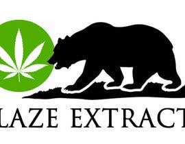 "#8 untuk Please help design a logo company called:  ""Blaze Extracts"".  Please write the words ""Blaze Extracts"" as the California bear (i attached a few images as examples).  Please also add a marijuana leaf behind the bear as a background. oleh cyberlenstudio"