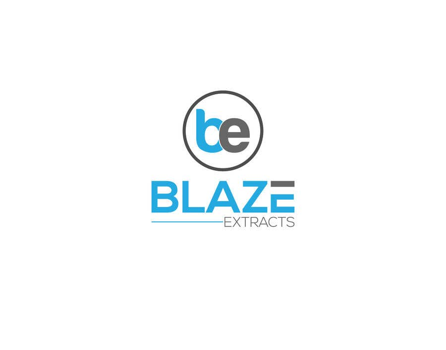"Contest Entry #5 for Please help design a logo company called:  ""Blaze Extracts"".  Please write the words ""Blaze Extracts"" as the California bear (i attached a few images as examples).  Please also add a marijuana leaf behind the bear as a background."
