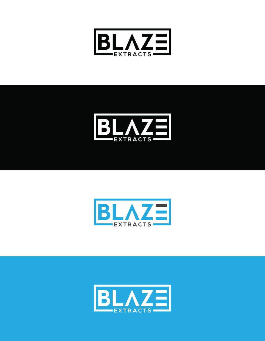 "Contest Entry #4 for Please help design a logo company called:  ""Blaze Extracts"".  Please write the words ""Blaze Extracts"" as the California bear (i attached a few images as examples).  Please also add a marijuana leaf behind the bear as a background."