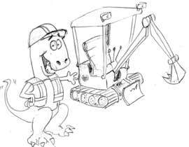 #5 para Cartoonists & Comic Artists - Need a logo of a T-Rex & an Excavator!!! por manikmoon