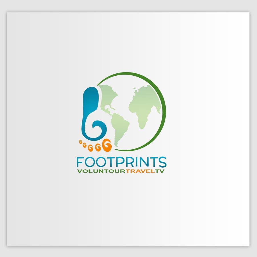 Inscrição nº                                         86                                      do Concurso para                                         Logo Design for Footprints Voluntour Travel Tv