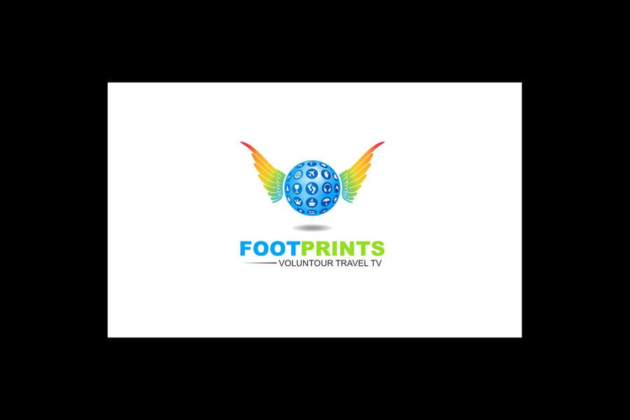 Inscrição nº                                         205                                      do Concurso para                                         Logo Design for Footprints Voluntour Travel Tv