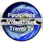 Graphic Design Конкурсная работа №25 для Logo Design for Footprints Voluntour Travel Tv