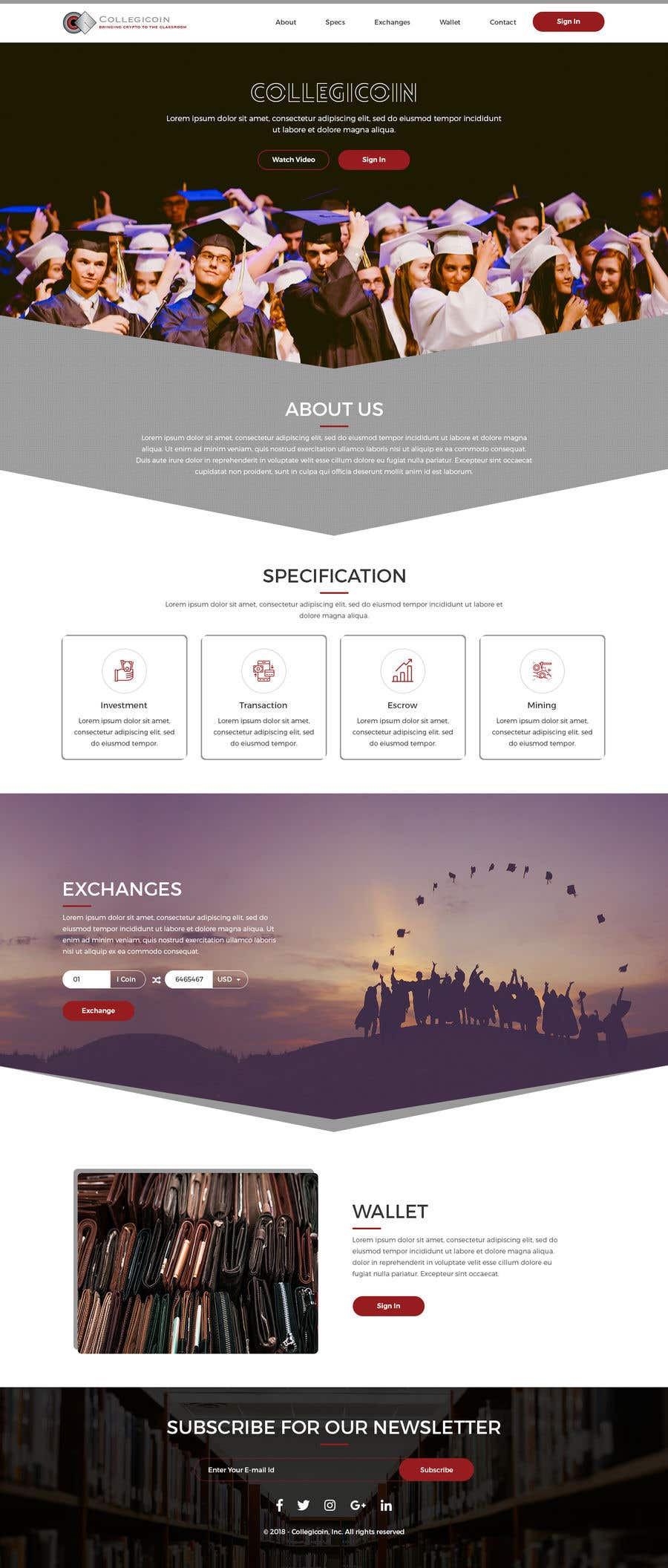 Entry 32 By Adixsoft For Wordpress Website One Page Scrolling