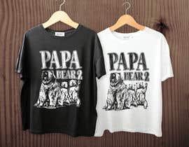 #4 for Pretty Basic Papa Bear T-shirt af RibonEliass