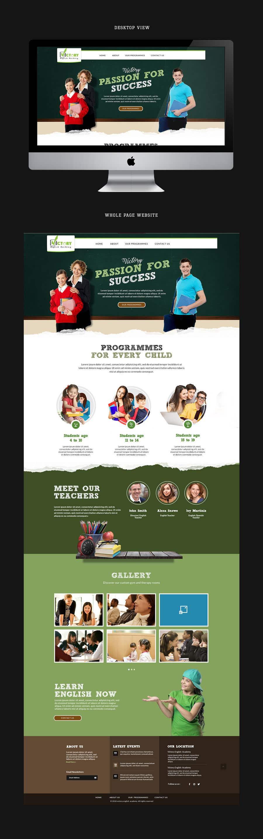 Konkurrenceindlæg #15 for Victory Academy Web Design