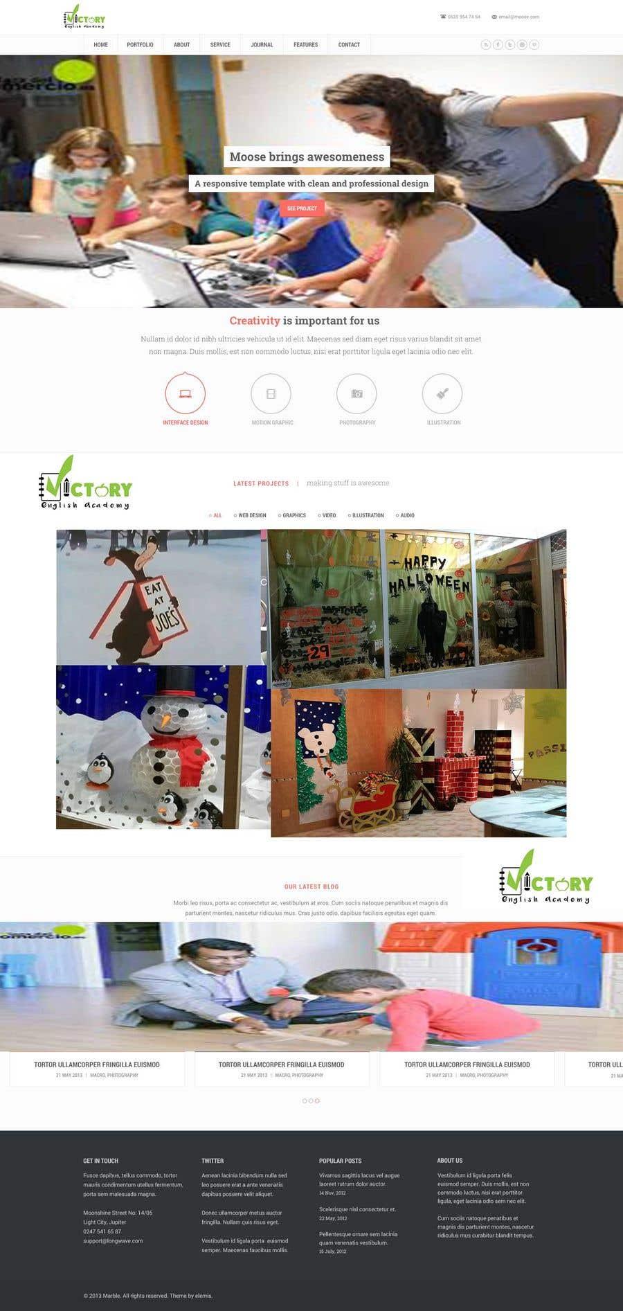 Konkurrenceindlæg #2 for Victory Academy Web Design