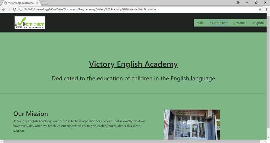 Konkurrenceindlæg #3 for Victory Academy Web Design