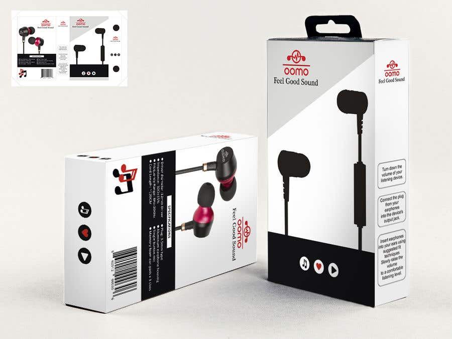 Konkurrenceindlæg #1 for Create Clean Design For In Ear Headphones Packaging (Think Apple/Bose)