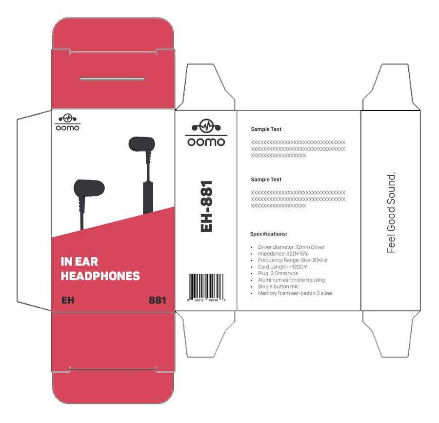 Konkurrenceindlæg #2 for Create Clean Design For In Ear Headphones Packaging (Think Apple/Bose)