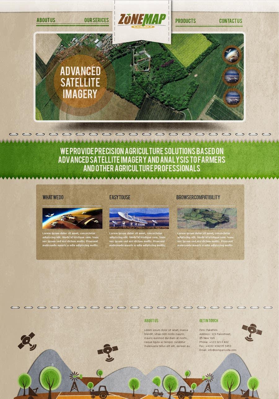 Bài tham dự cuộc thi #55 cho One page Brochure Site Design