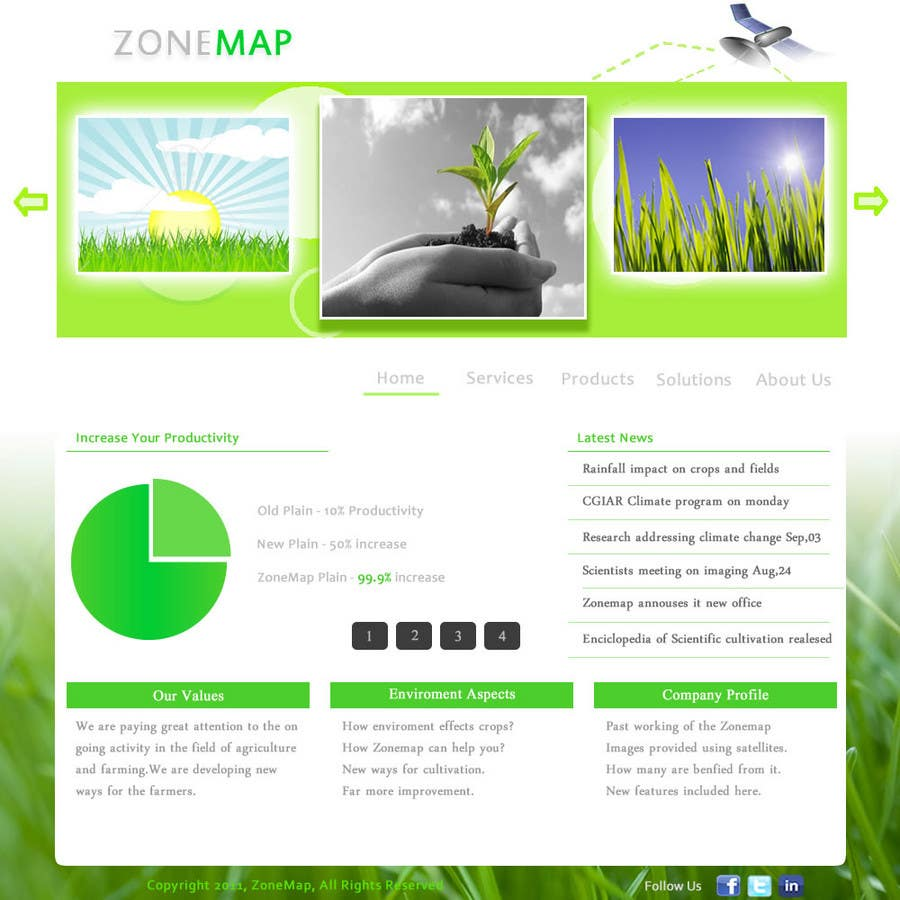 Contest Entry #                                        68                                      for                                         One page Brochure Site Design