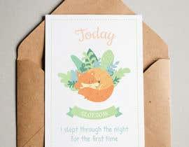 #66 untuk Design Milestonecards for Babies oleh Leysan1