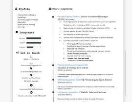 #16 untuk Improve Design (UX/UI) of CV ( Curriculum Vitae) in finance sektor oleh JubairAhamed1