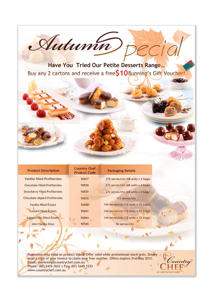 #45 for Graphic Design for Country Chef Desserts by Sidratul01