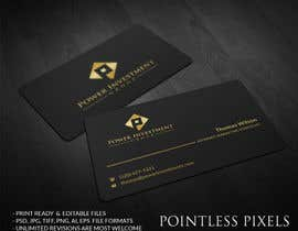 nº 53 pour Design some Business Cards for investor company par pointlesspixels