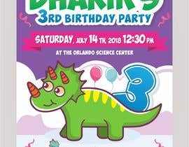 #4 for Kid's birthday party invitation by ahmadyusuf1998