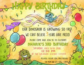 #17 for Kid's birthday party invitation by ibrahimkaldk