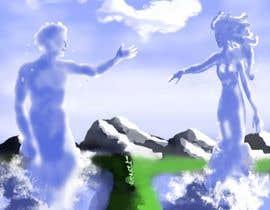 Nro 14 kilpailuun Illustrate a lifelike man and a woman from waves. käyttäjältä jasongcorre