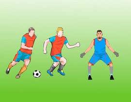 #17 for Soccer players ilustrations af mk45820493