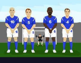 #9 for Soccer players ilustrations af Akheruzzaman2222