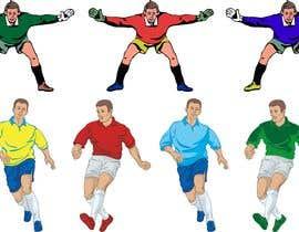 #4 for Soccer players ilustrations af pigulchik